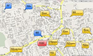 Mapa Klatov